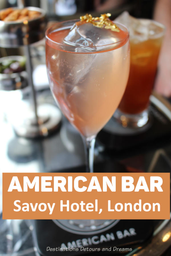 London's American Bar Classic Cocktail Experience: The timeless elegance and classic experience of the American Bar at the Savoy Hotel in London, England - Britain's oldest surviving cocktail bar. #London #England #AmericanBar #cocktail #SavoyHotel