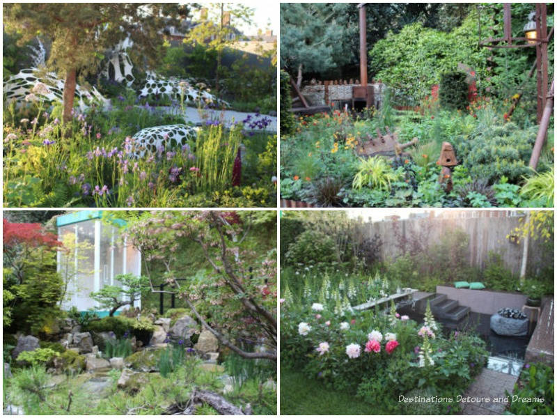 Samples of Artisan and Space To Grow Gardens at the 2019 Chelsea Flower Show