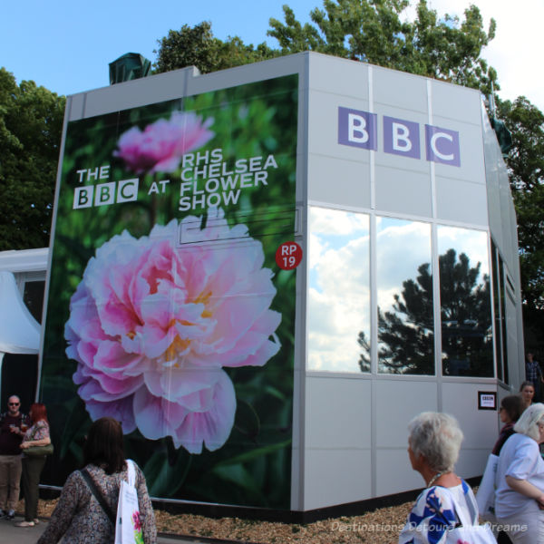BBC booth at the Chelsea Flower Show
