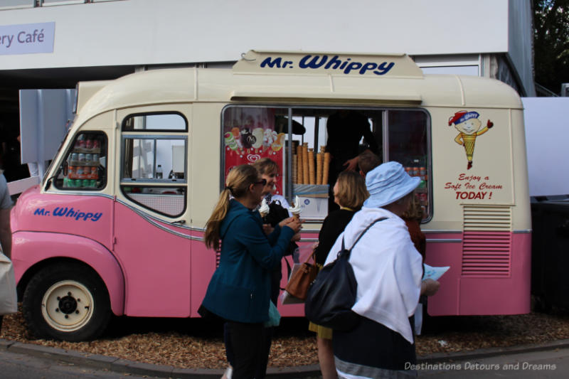 Mr. Whippy ice cream truck at Chelsea Flower Show