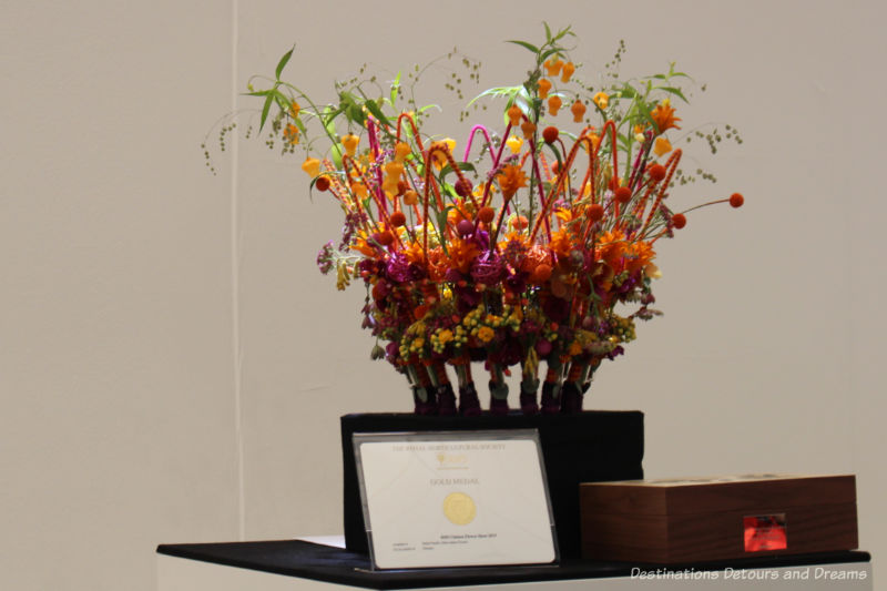 Floral crown in the 2019 Chelsea Flower Show florist competition