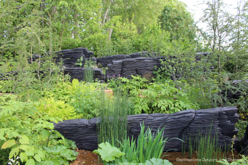 Free-flowing woodland M&G Garden at the 2019 Chelsea Flower Show
