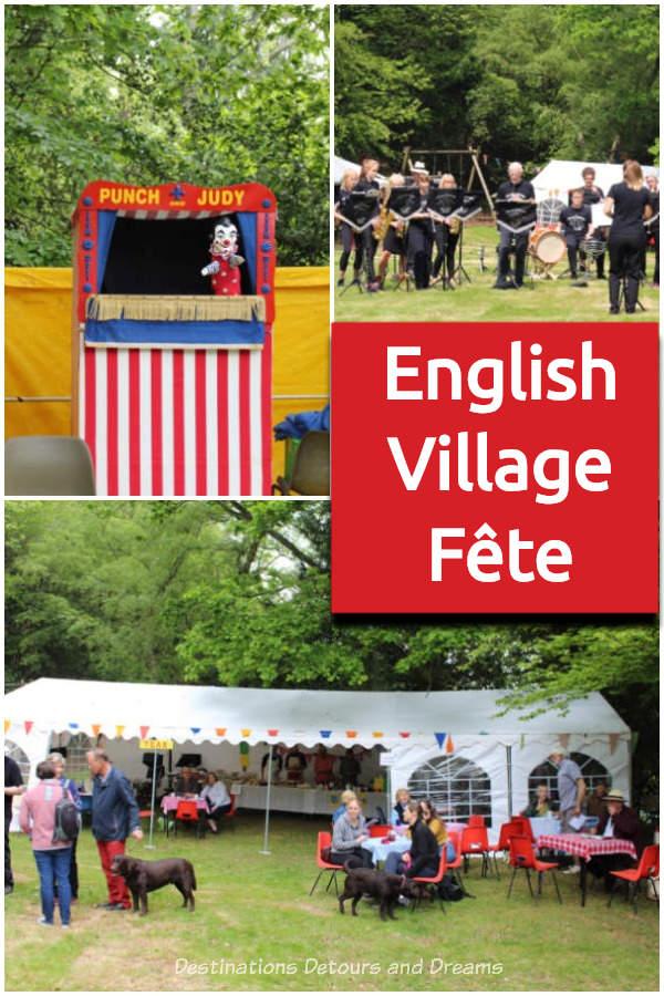 English Village Fête: A small village fête showcases the elements of a traditional English fête #England #fête #festival