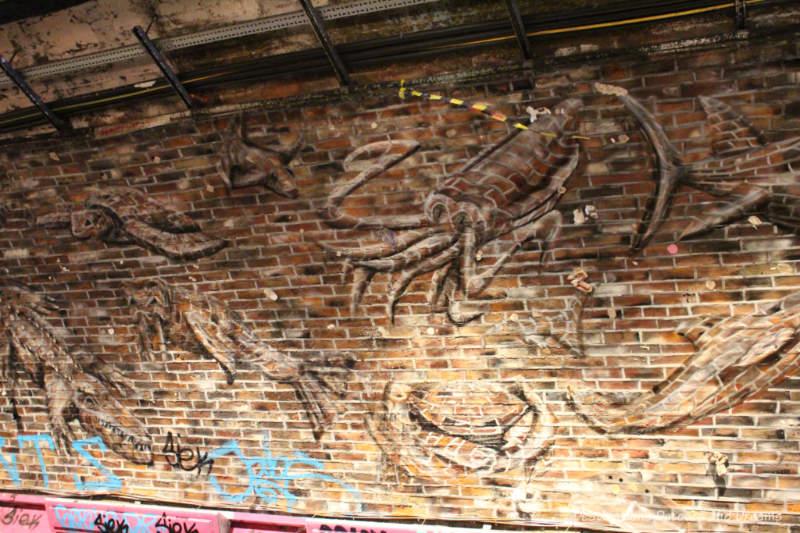 Painting in London Leake Street Tunnel