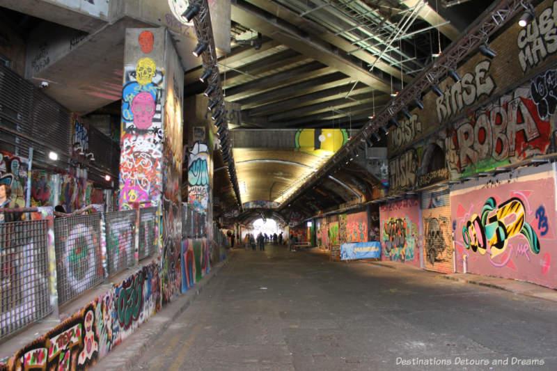 Leake Street Tunnel (aka Graffiti Tunnel) in London