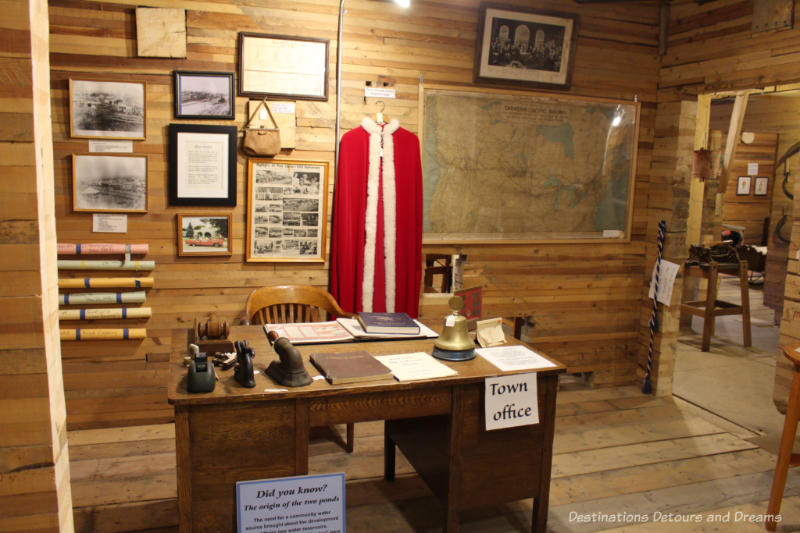 Town office display room at the Plum Coulee Prairieview Museum