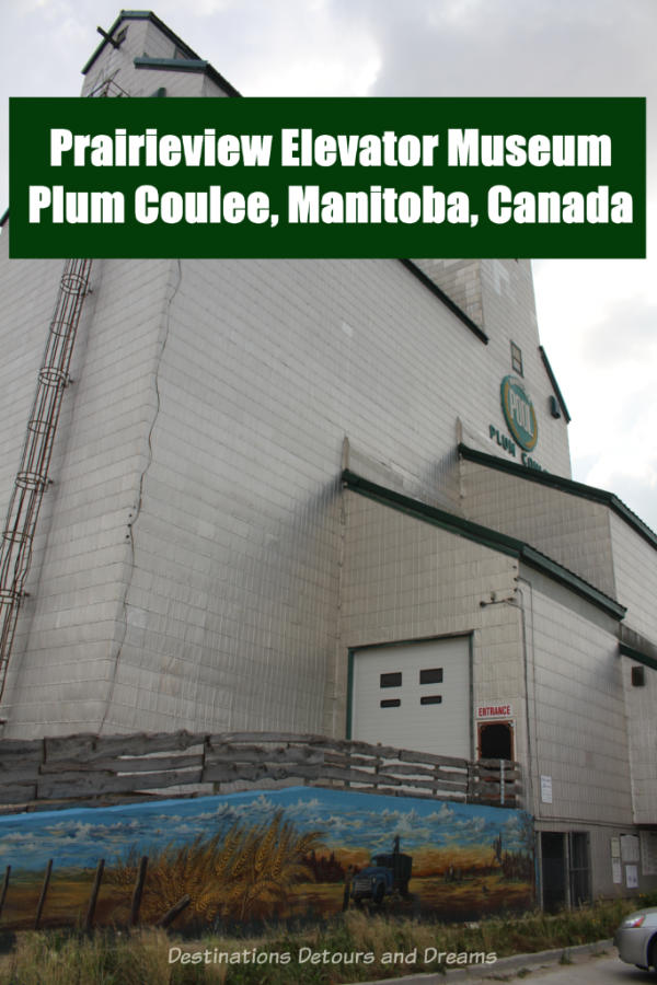 Housed inside a former grain elevator, Prairieview Museum in the small town of Plum Coulee, Manitoba, Canada, houses pioneer artifacts and showcases elevator operations. #Manitoba #Canada #grainelevator #history #museum