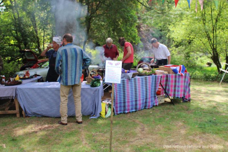 Food stall at a village fête
