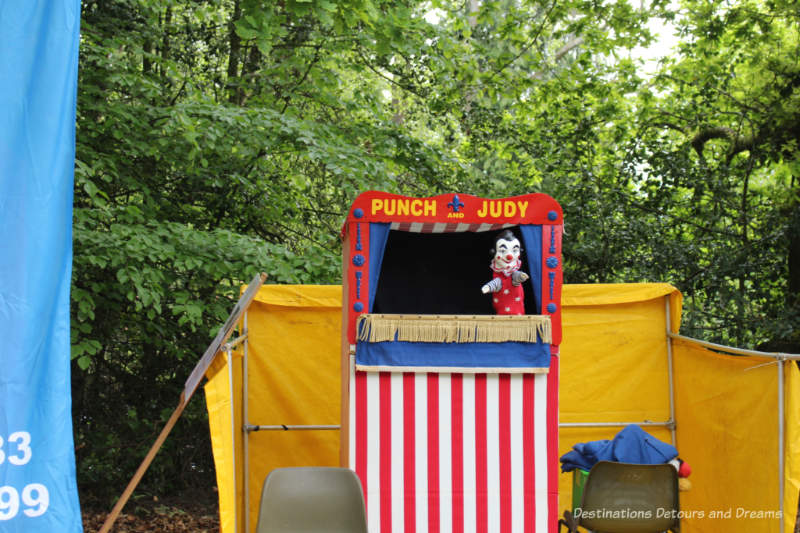Punch and Judy show at an English village fête