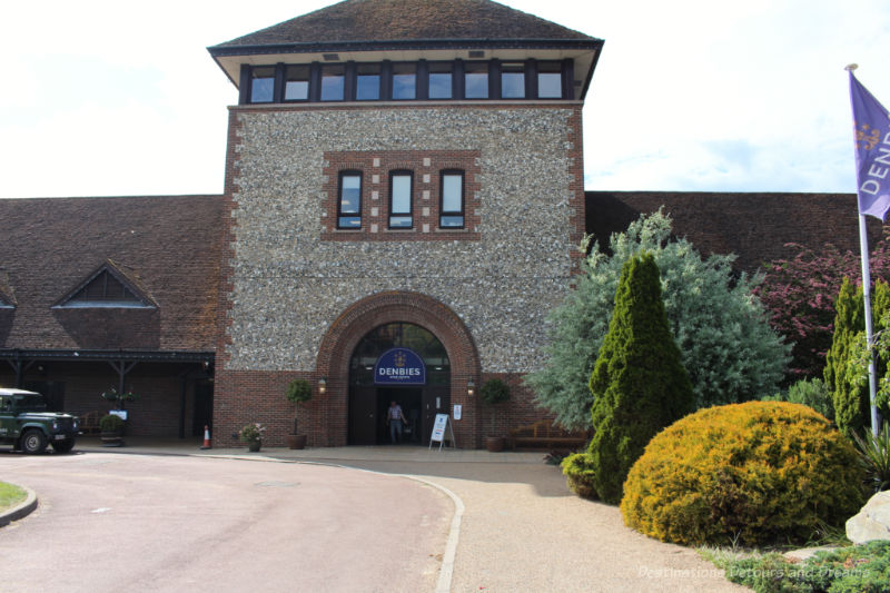 Front of the Denbies Wine Estate building