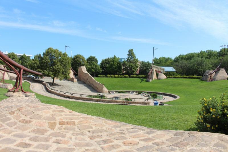 Grass and stone amphitheatre