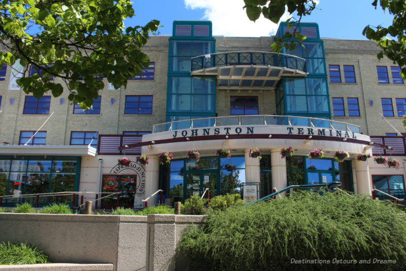 Front of the Johnston Terminal building at The Forks