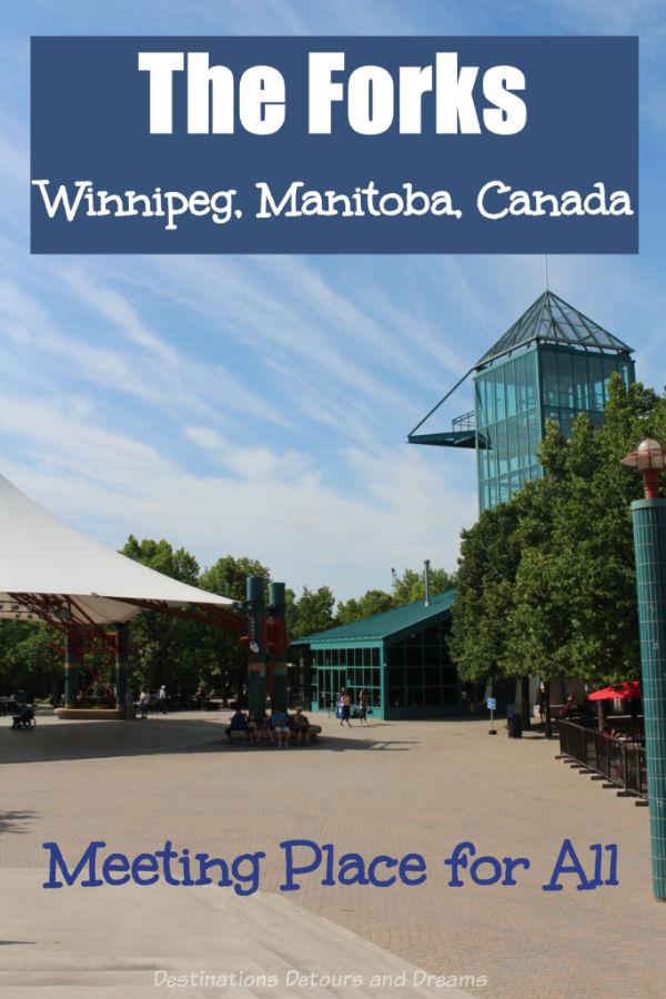 The Forks: A popular public space on the site of an ancient meeting place in downtown Winnipeg, Manitoba, Canada offers modern-day shopping, dining, entertainment, historic attractions, and green space. #Winnipeg #Manitoba #Canada #Attraction