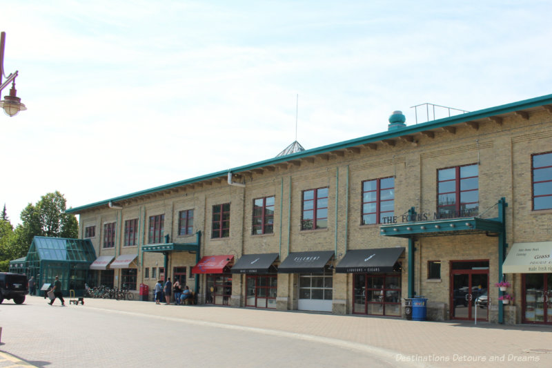 Brick front of the The Forks Market in Winnipeg, Manitoba