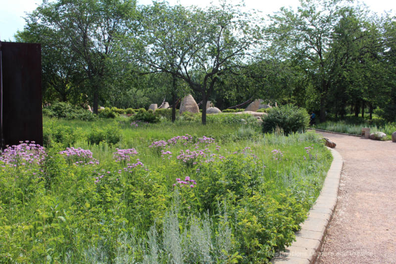 Natural prairie garden at The Forks in Winnipeg
