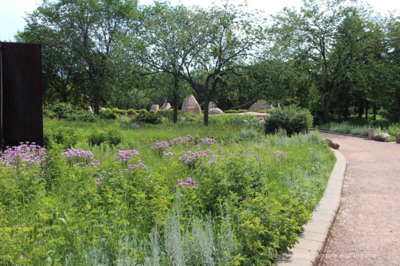Natural prairie garden at The Forks in Winnipeg