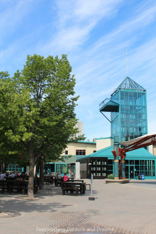 Tower and viewing platform of The Forks Market in Winnipeg, Manitoba