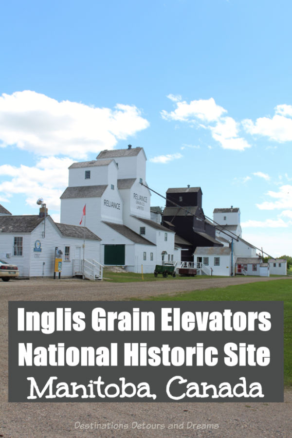 The Inglis Grain Elevators National Historic Site in Inglis, Manitoba relives the golden age of wooden grain elevators on the Canadian prairies #Manitoba #Canada #history #grainelevator #historicsite
