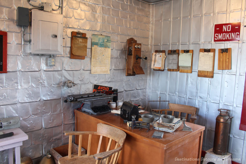 Elevator agent office at the Inglis Grain Elevators National Historic Site