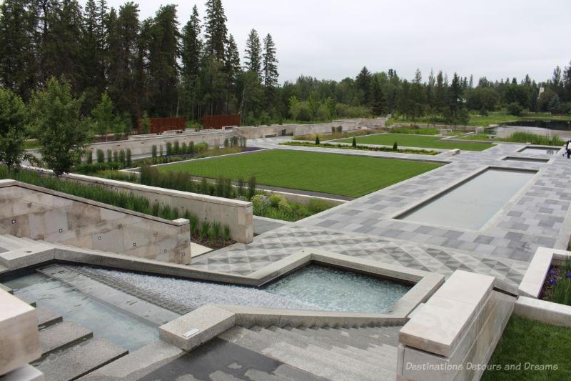 Geometric garden design of the Aga Khan Garden
