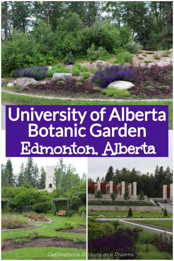 University of Alberta Botanic Garden just outside Edmonton, Alberta is an award-winning visitor attraction containing a wide diversity of plants, specialized gardens, and indoor showhouses #Alberta #Edmonton #garden #Canada
