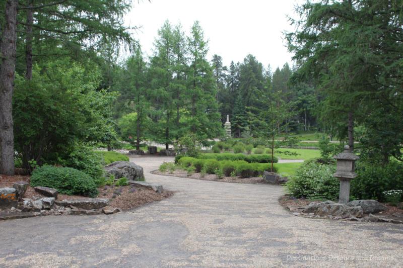 Japanese garden at University of Alberta Botanic Garden