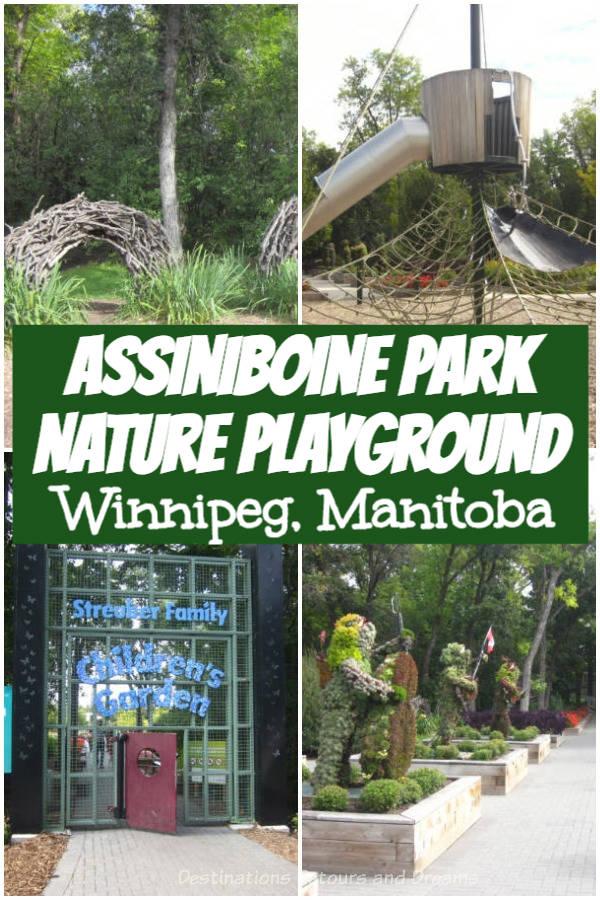 Assiniboine Park Nature Playground in Winnipeg, Manitoba is a beautiful spot for imaginative play #Winnipeg #Manitoba #park #playground
