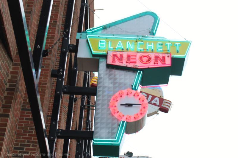 Blancett Neon sign in Edmonton Neon Museum
