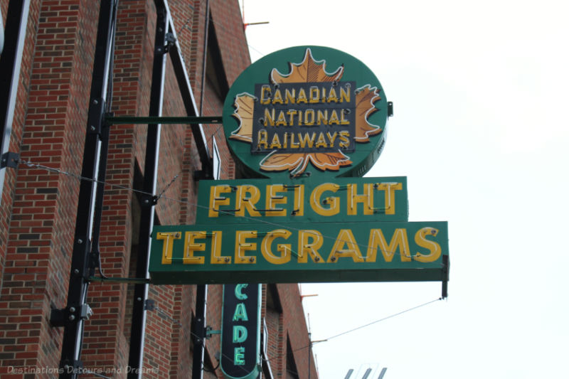 Canadian National Railways neon sign at the Edmonton Neon Museum