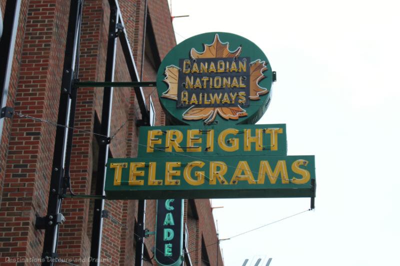 Canadian National Railways neon sign at the Edmonton Neon Museum