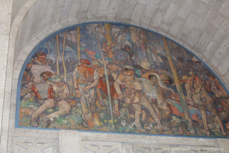 Painting commemorating Manitoba's sacrifice in the Great War