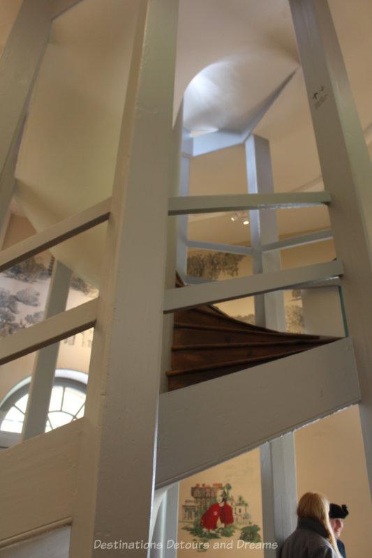 Circular staircase in Kew Gardens Great Pagoda