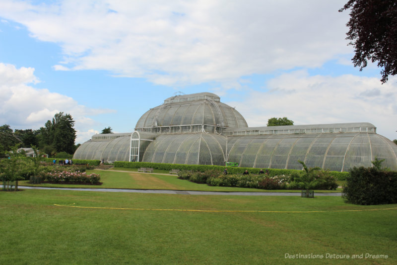 Glass conservatory Palm House at Kew Gardens