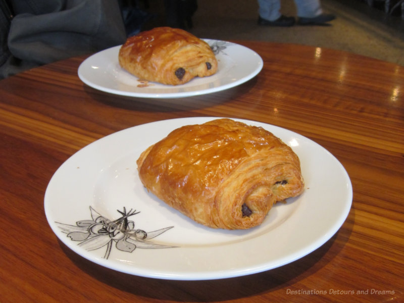 Pain au chocolat at Thomas Haas - one of several favourite Kitsilano restaurants