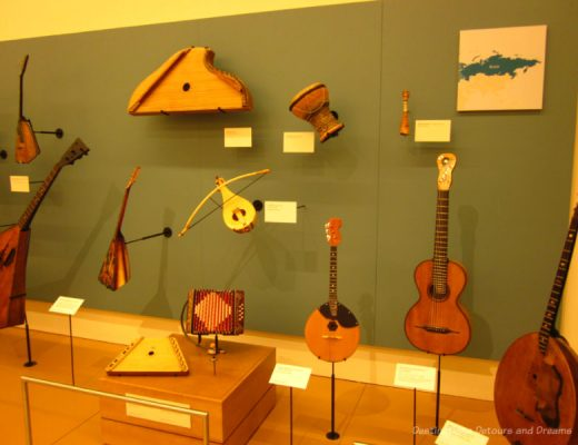 Collection of instruments at the Musical Instruments Museum in Phoenix
