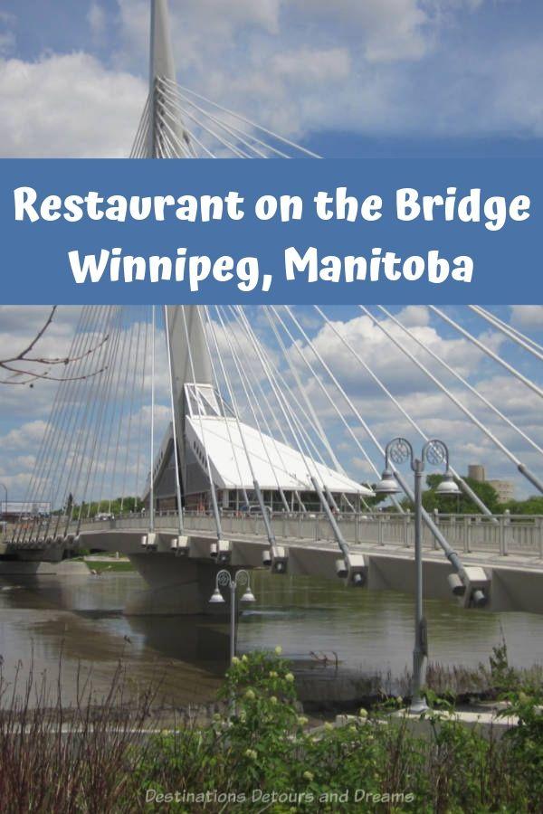 Winnipeg restaurant Mon Ami Louis Brasserie Restaurant offers French-inspired cuisine on pedestrian bridge Esplanade Riel #Winnipeg #Manitoba #restaurant