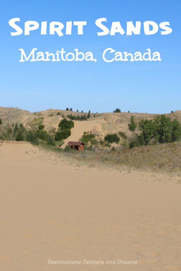 Sand Dunes in Manitoba - Visiting the sand dunes of Spirit Sands in Manitoba, Canada on a horse-drawn wagon ride. #Manitoba #sand #Carberry #SpiritSands #Parkland