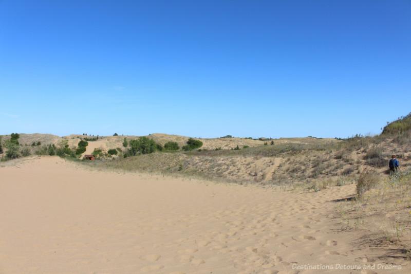 Sand vista from sand dunes in Spirit Sands Manitoba