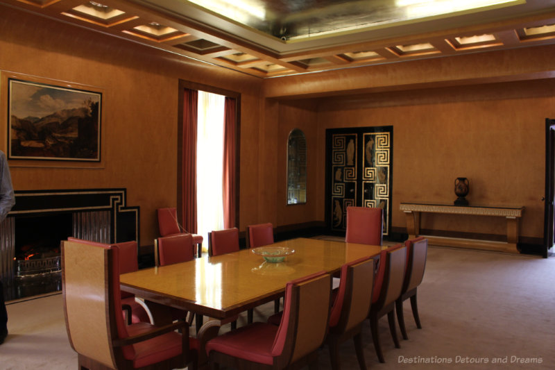Art deco dining room at Eltham Palace