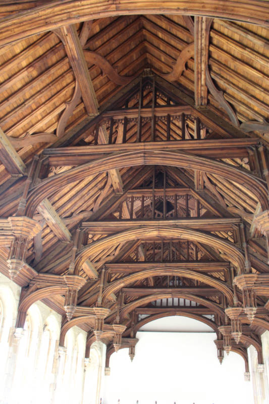 Wood ceiling beams of Eltham Palace Great Hall
