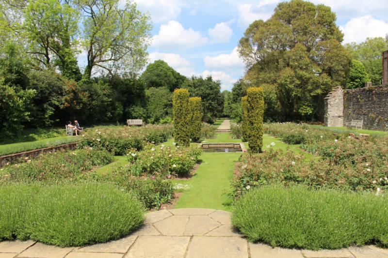Sunken garden at Eltham Palace