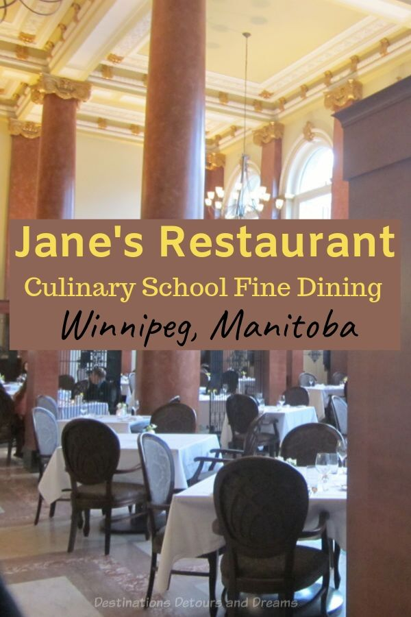 A fine dining experience at Red River College culinary school restaurant in Winnipeg, Manitoba. #Winnipeg #Manitoba #Canada #restaurant #culinaryschool