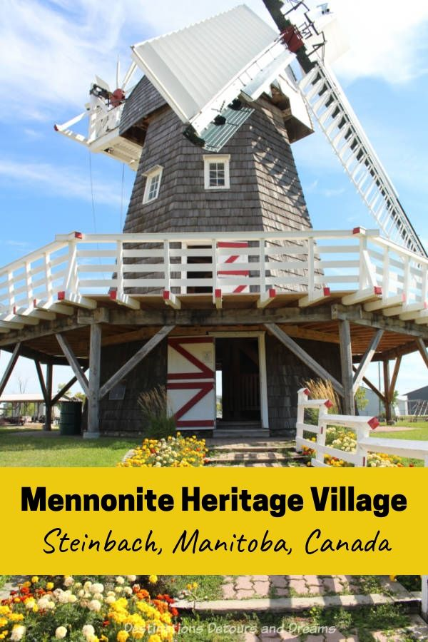 Mennonite Heritage Village is a museum in Steinbach, Manitoba, Canada telling the story of the Russian Mennonites in Canada. It contains museum galleries and an open-air village of original buildings. #Canada #Manitoba #Steinbach #history #museum