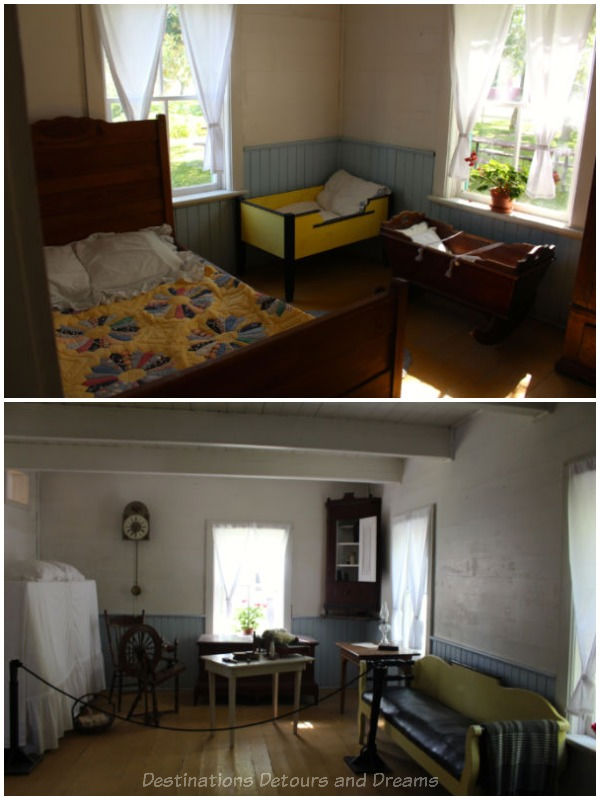 Sitting room and bedroom in an 1890s Mennonite house