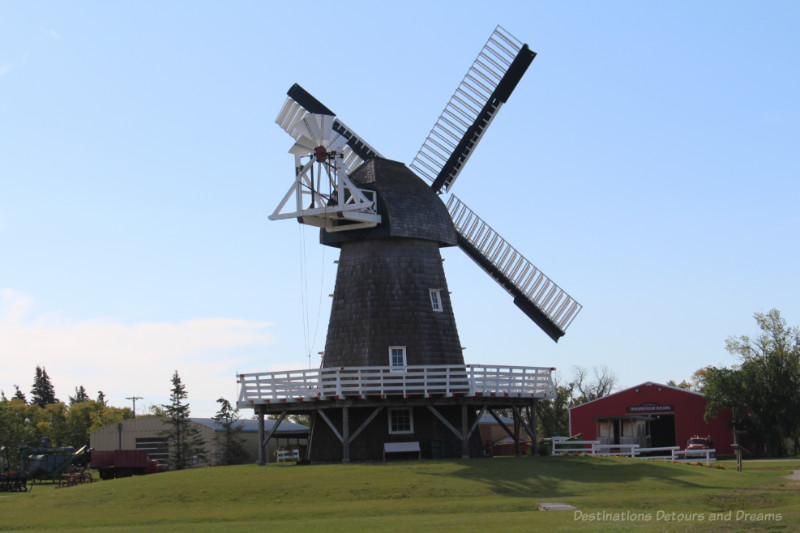 Wood windmill