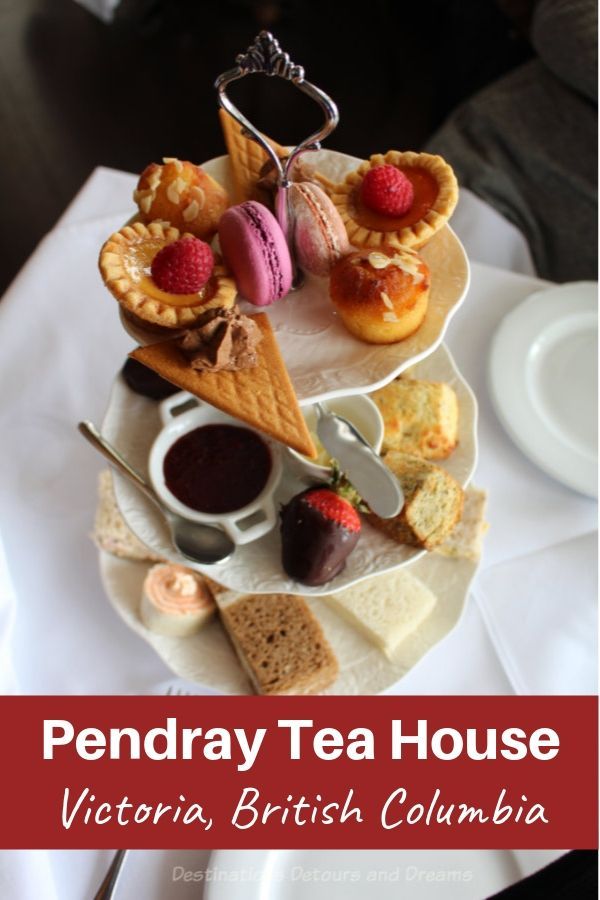 Afternoon tea at Pendray Tea House. Taking tea in a historic home in Canada's most British city, Victoria British Columbia #Victoria #BritishColumbia #Canada #tea