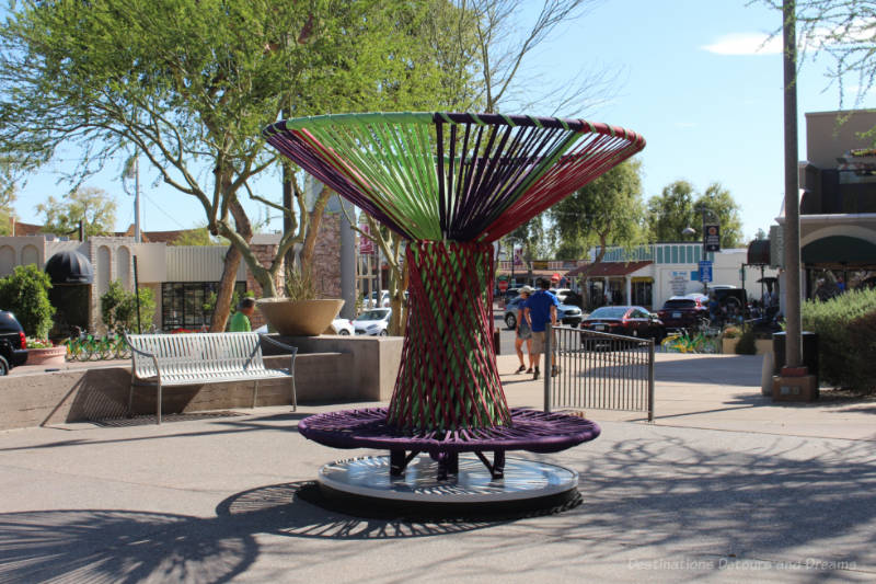 Art sitting structure near 5th Avenue, Scottsdale