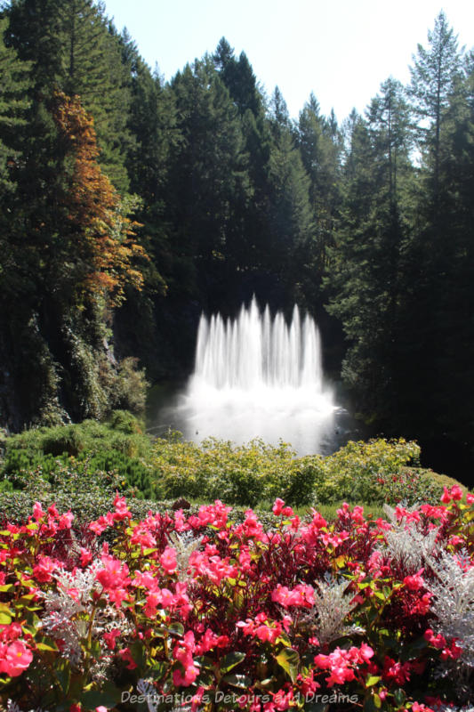 Ross Fountain created water display at Butchart Gardens