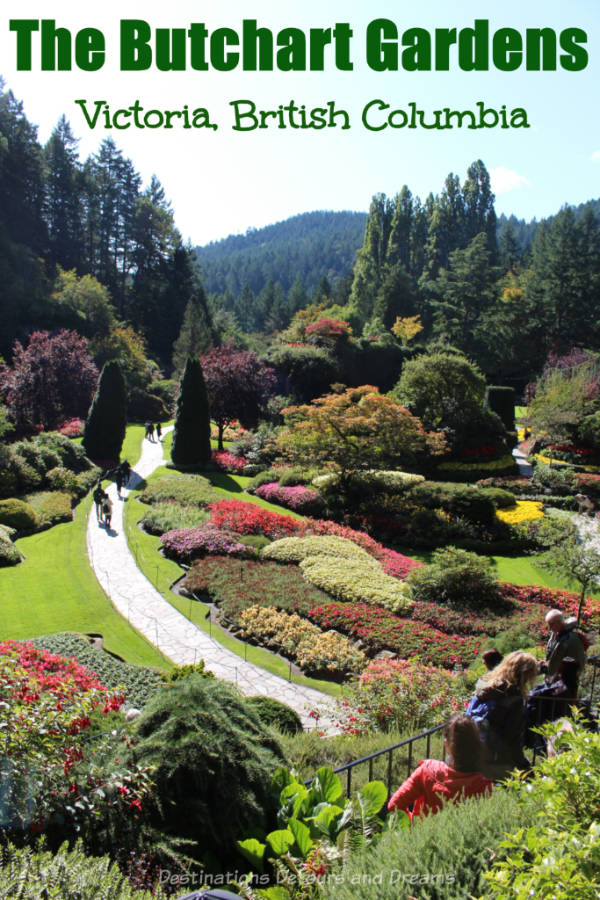 The Butchart Gardens in Brentwood Bay, near Victoria, on Vancouver Island has been delighting visitors for over 100 years #BritishColumbia #Victoria #VancouverIsland #garden