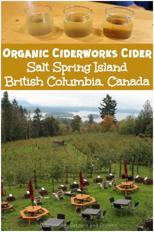 Visiting Ciderworks, a small organic apple orchard and cidery on Salt Spring Island, British Columbia, Canada #BritishColumbia #Canada #SaltSpringIsland #cider #appleorchard